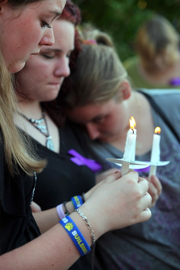 Alisa Hartmann, who died May 15, 2012, as a victim of alleged domestic violence, was remembered by friends and family at a vigil held in her honor, May 18, 2012, in Manatee, Florida.