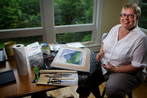Suzanne Savage Brewer, 51, of Sidney chucked her career as a house designer to get back to her first love: painting.