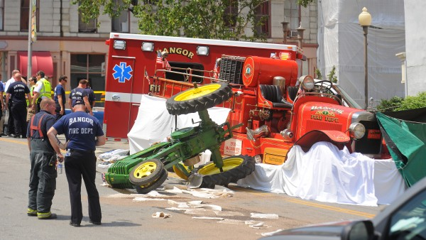 A man died in an accident during the 4th of July parade in Bangor. The person died as an antique tractor and antique firetruck collided, but Police are working to find out what exactly happened.