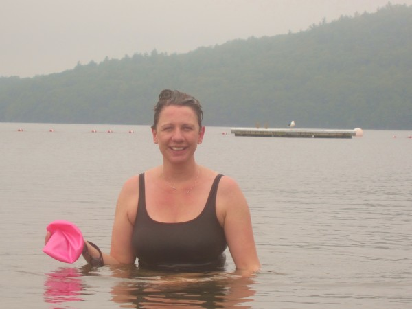 Jessie Davis of Rockland trained Thursday for the first-ever Islesboro Crossing, a three-mile open-water swim she's organizing to raise money for LifeFlight of Maine.
