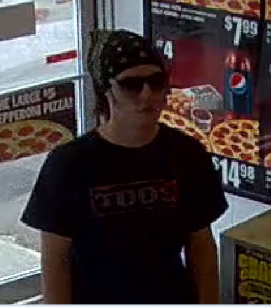 Police are searching for this man who robbed a pizza shop in Waterville over the weekend.
