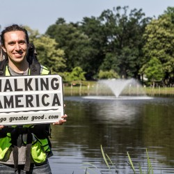 NJ man begins 3,000 mile 'Walk Across America' in Portland to encourage acts of kindness