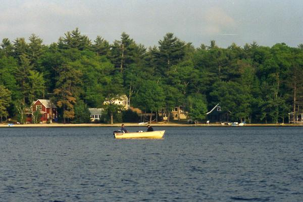 Square Pond is one of 10 lakes in Acton that attract tourists this time of year .
