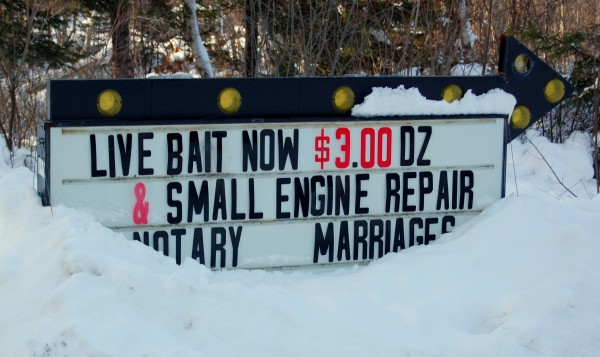 The Autisville Farm on Court Street in Machias meets a wide variety of local needs, ranging from affordable live bait, notary public services, tuning up that hard-to-start chainsaw and, of course, marriages.
