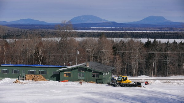 The ski lodge at the Big Squaw Mountain Ski Resort in Greenville.  The mostly volunteer crews worked for months to reopen the ski slopes on the side of Big Moose Mountain.