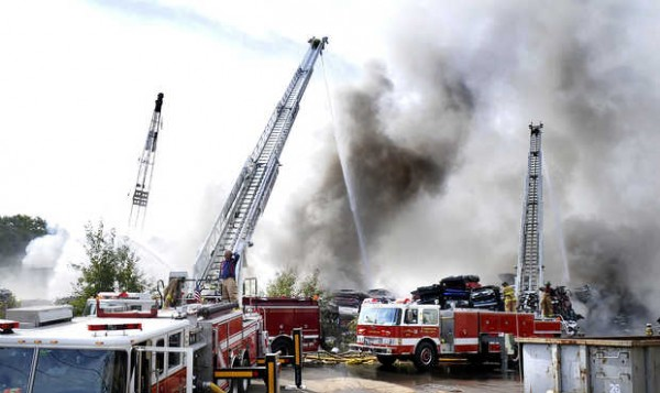 A September 2009 fire at Grimmel Industries in Topsham was only one of 7 fires in the past two decades at the scrap metal recycling plant.