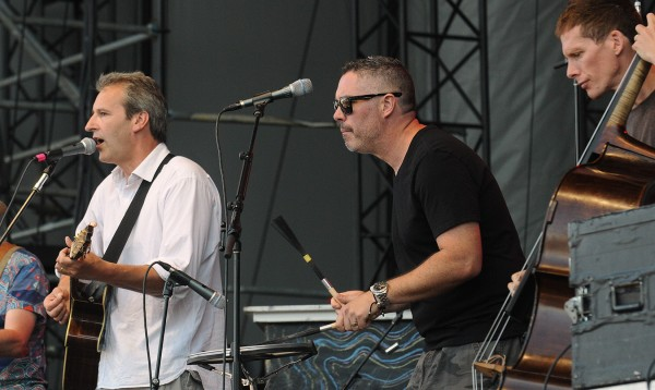 Boothby Graffoe (left) performs with members of the Barenaked Ladies at the Darling's Waterfront Pavilion Sunday evening in Bangor.