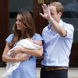 Kate, duchess of Cambridge, in labor at hospital