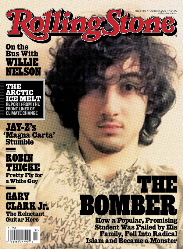 Accused Boston bomber Dzhokhar Tsarnaev is seen on the cover of the August 1 issue of &quotRolling Stone&quot magazine in this handout image received by Reuters July 17, 2013.
