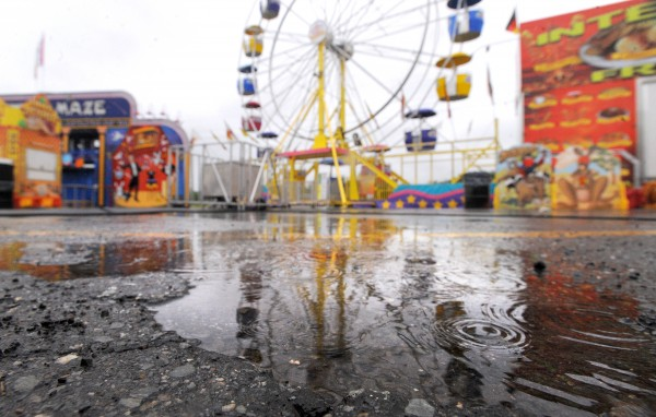 The opening of the 2013 Bangor State Fair was postponed due to the heavy rain that blanketed most of the state Friday. According to the fair website the official opening is planned for noon Saturday.