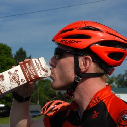 Houlton cyclists drink chocolate milk as post-workout recovery fuel