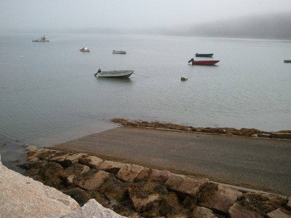 Two women drowned Tuesday night after apparently becoming disoriented in the fog and driving off this boat ramp and into the ocean in Roque Bluffs, according to police.