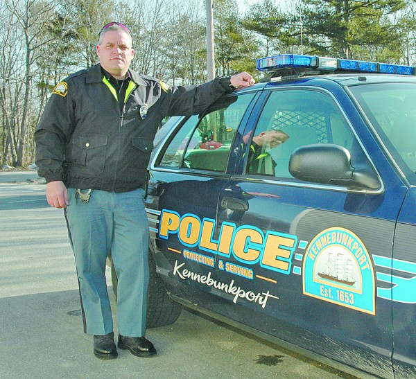 Kennebunkport Police Officer Marc Laflamme, shown here in a 2008 York County Coast Star file photo.
