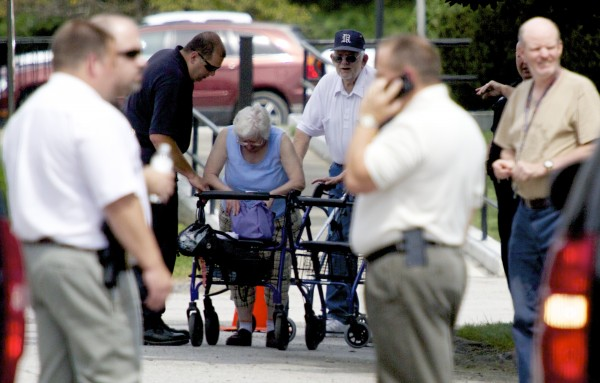 Brewer police evacuated the offices of the Brewer Housing Authority and several nearby apartment buildings on Thursday, July 18, after a suspicious device was found by a maintenance worker.