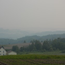 Smoke from Canadian wildfires filters into Maine