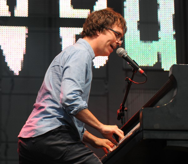 Ben Folds performs at the Bangor Waterfront Sunday evening.