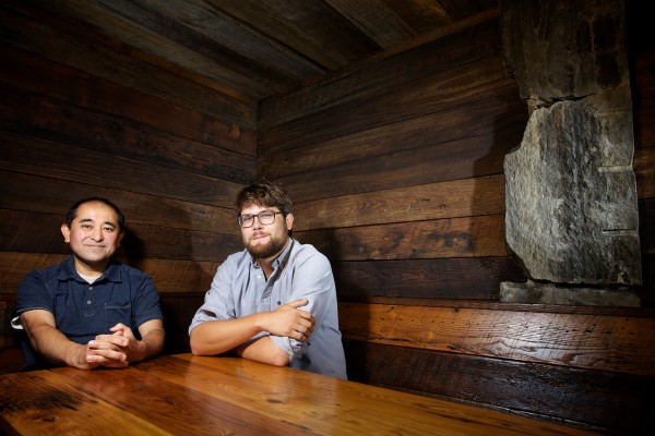 Restauranteur Masa Miyake, 50, and business partner Will Garfield, 25, sit in the corner booth of what will be their third Portland eatery. The location, on Spring Street, is where Miyake ran his first Portland restaurant from 2007 to 2011.