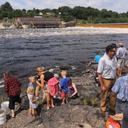 Breaching of Veazie Dam begins as part of Penobscot River Restoration