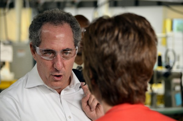 United States Trade Representative Michael Froman toured the New Balance factory in Norridgewock on Monday.