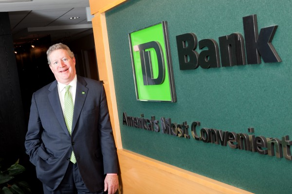 David Glidden, TD Bank's new regional president for Northern New England and Upstate New York.