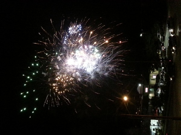Fourth of July fireworks in Bangor on Thursday.