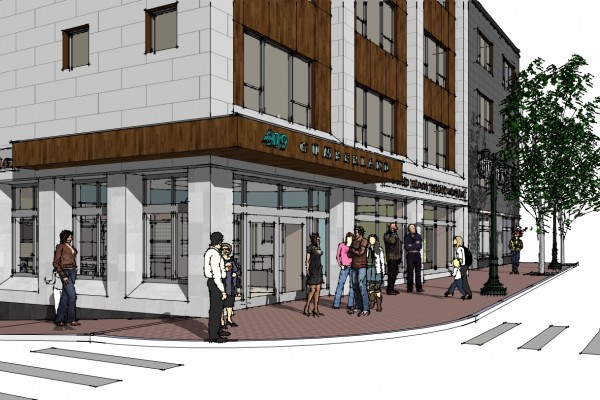 The outside of the new housing development by Portland-based nonprofit Avesta Housing in a  CWS Architects rendering.