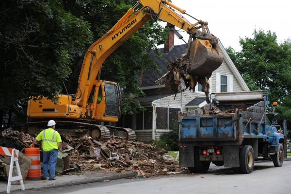 The house at 8 East Summer St. in Brewer was torn down on Monday per a court order. Mold played a role in the property being condemned and a judge ordering it removed, citing a public health hazard.