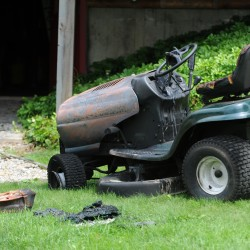 Firefighters tackle lawn mower fire in Rumford
