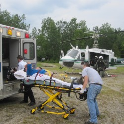 Helicopter helps rescue Quebec man who fell 20 feet on Katahdin trail