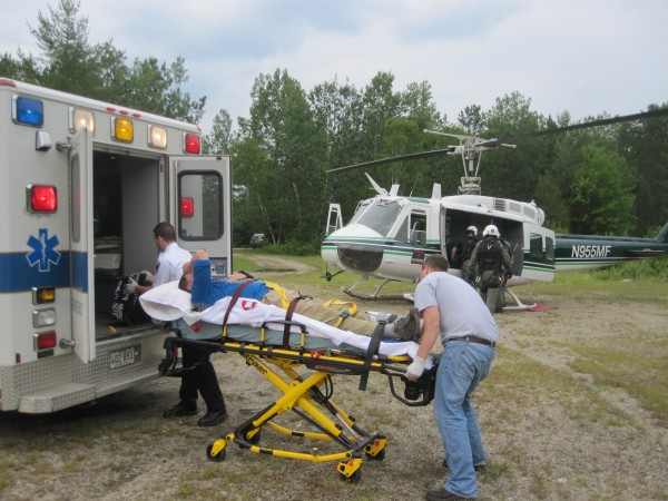 Ned Hamara, 62, of Texas was airlifted off Mount Katahdin on July 1, 2013 after a large rock fell on him, injuring his upper and lower body. A Maine Forest Service helicopter picked up Hamara from an elevation of approximately 3,900 feet and transported him to Caribou Pit in Baxter State Park, where an ambulance was waiting to take him to Millinocket Regional Hospital.