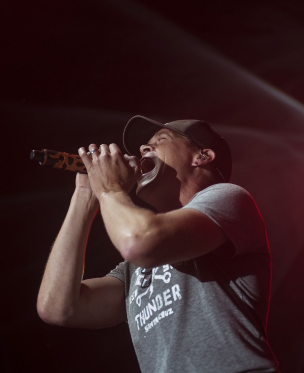 Brad Arnold, lead singer 3 Doors Down, performs at the Darling's Waterfront Concert in Bangor on Wednesday, July 10, 2013.