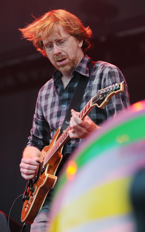 Phish guitarist Trey Anastasio performs on the Darling's Waterfront Pavilion Stage on Wednesday.