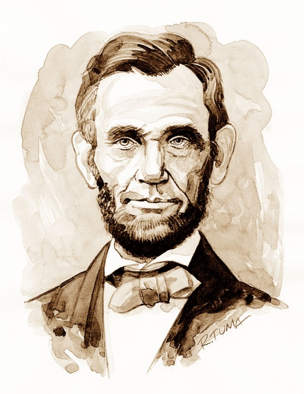 Rick Tuma portrait of Abraham Lincoln.