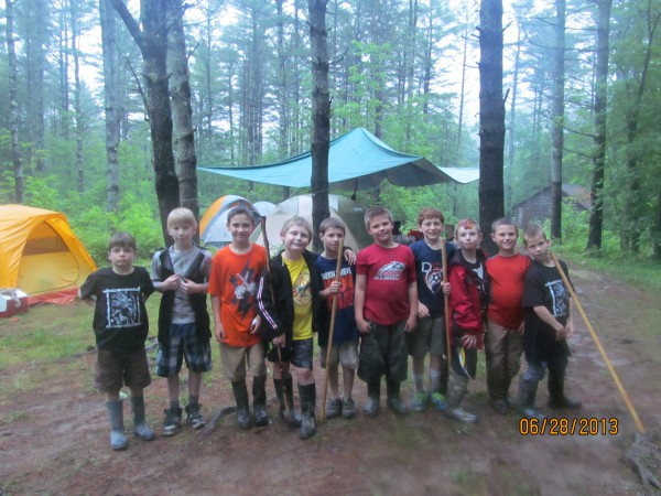 Webelos of Pack 200 at Camp Bomazeen on Great Pond in Belgrade (Pictured Left to Right) Finn Mills, Aidan Hebert, Zackary Wellman, Adin Grey, Cole Freeman, Grady Brown, John Pessara, Joey Corey, Greyson Orne and Brian Bland.