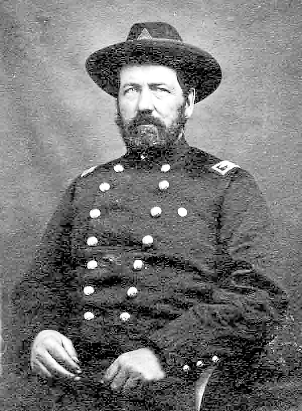 Col. Elijah Walker commanded the 4th Maine Infantry Regiment during the Battle of Gettysburg. While his men were locked in combat with Confederate troops near the Devil's Den in Late afternoon on Thursday, July 2, 1863, Walker was briefly captured by enemy troops. Two Maine soldiers quickly freed him.