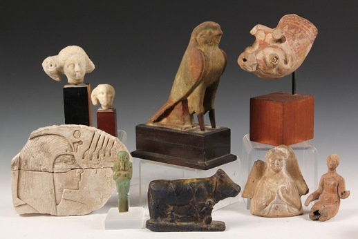 Selection of important antiquities that will be sold at Thomaston Place Auction Galleries on August 24 & 25