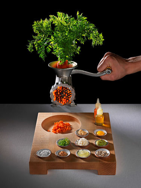 """At Eleven Madison Park restaurant in New York, the tartare is made with carrot, not steak. &quot""""I love vegetables and they give you a lot of opportunity to be creative. You can't do a lot with a steak, whereas if you take a carrot, the opportunities are endless,&quot"""" says chef Daniel Humm."""