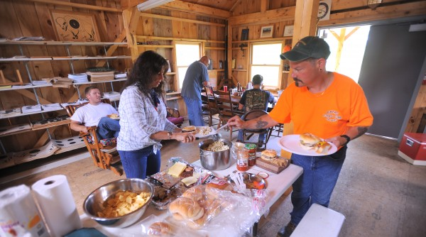 One of the traditions at the Penobscot Longrifles club in Stetson that, there is always food prepared the members at each month's shoot. &quotWe get together even in the wintertime,&quot said Glenn Dickey.