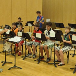 UMaine's MSYM junior jazz musicians rehearse for their upcoming concert.