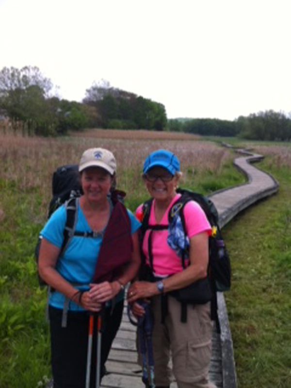 "The Maine Warden Service is seeking the public's help in the effort to find Geraldine ""Gerry"" Anita Largay, 66, of Brentwood, Tenn., seen here in pink on the right."