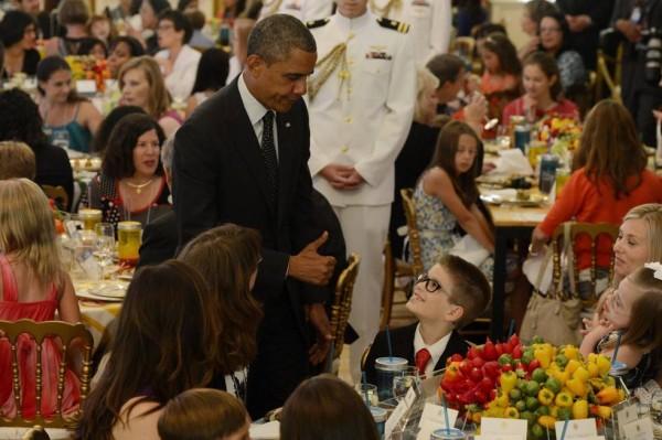 Noah Koch meets President Obama.