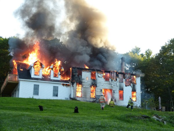 A fire destroyed a home at 53 Carding Machine Road in Bowdoinham this morning, reported at around 5:30 a.m.