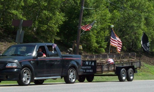 The POW-MIA float made a powerful statement during the Millinocket Fourth of July parade on Thursday..