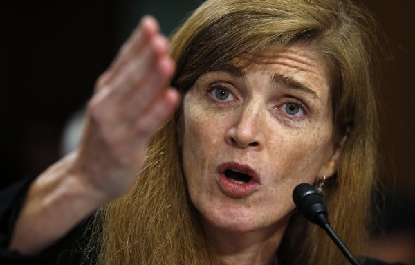 Samantha Power testifies before a Senate Foreign Relations Committee confirmation hearing on her nomination to succeed Susan Rice as U.S. ambassador to the United Nations on Capitol Hill in Washington July 17, 2013.