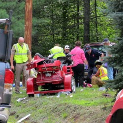 Woman injured in single-vehicle MDI crash