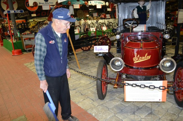 Harold Beal of Southwest Harbor, 87, a volunteer at Cole Land Transportation Museum in Bangor, says that sharing his experiences in World War II with students attending the museum's Veterans Interview Program has helped bring healing of his post traumatic stress syndrome from the war.