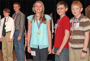 Pictured L-R: Adam and Aaron Dustin, Eleanor Mallett, Hunter White, Will Ellis