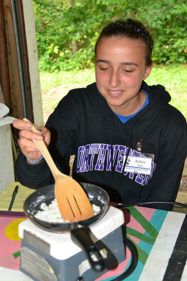Kelsey Burke prepares food in unique and scientific ways in this directed study on gastronomy at the 2013 National Youth Science Camp in West Virginia.