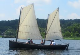 Ruth, an Apprenticeshop-built 26' Crotch Island Pinky Ketch, is one of the vessels available for free public sailing in Rockland.