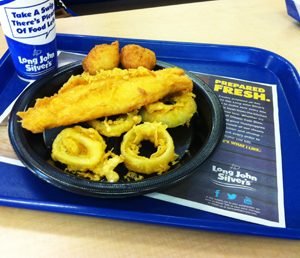 "Long John Silver's ""Big Catch"" fish platter was named the ""Worst Restaurant Meal in America"" by a nutrition advocacy group on Tuesday, July 2, 2013."